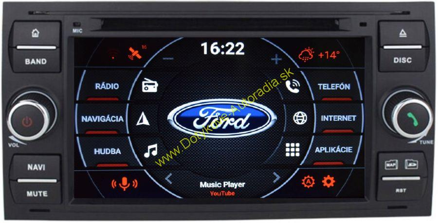 FORD hranate cierne ANDROID NAVI