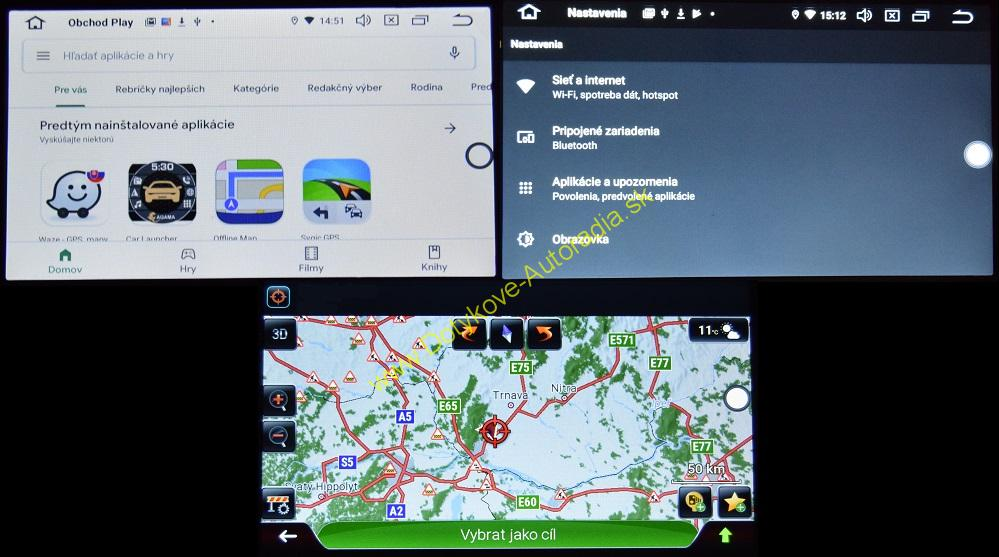 MERCEDES FULLTOUCH starsie modely ANDROID AUTORADIO NAVI